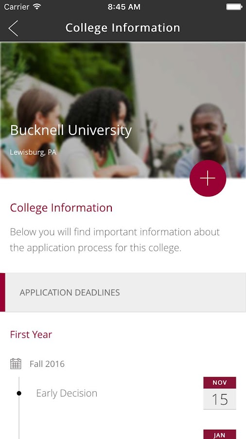 Common App OnTrack- screenshot