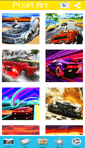 Arcade Lambo Pixel Art Cars Color By Number App Report On