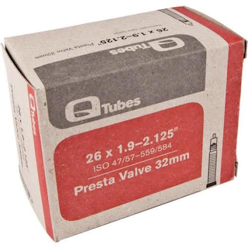 """Q-Tubes 26 x 1.9-2.125"""" 32mm Presta Valve Tube"""