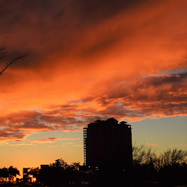 Sunset over Condo by Bar Ivy - Landscapes Sunsets & Sunrises ( bright sky, sunset, cloudscape, colorful, peaceful )