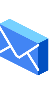 "A blue envelope icon, representing ""Share with care"""