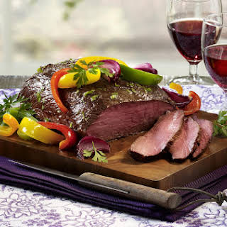 London Broil with Peppers and Onion.