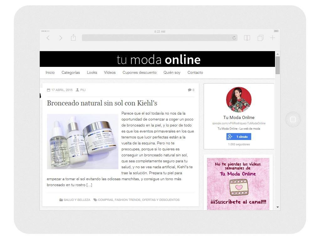 Blog de Moda - Tu Moda Online- screenshot