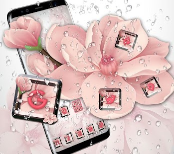 beauty pink peach blossom theme pink wallpaper - náhled