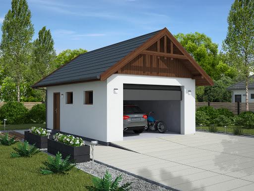 projekt G339A garaż jednostanowiskowy