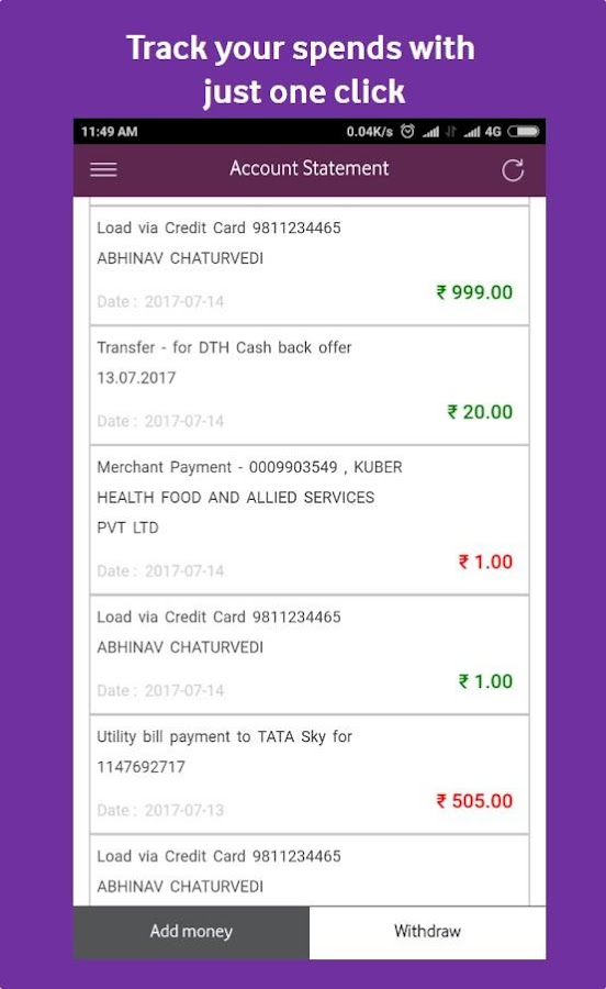 Vodafone M-Pesa Wallet- screenshot