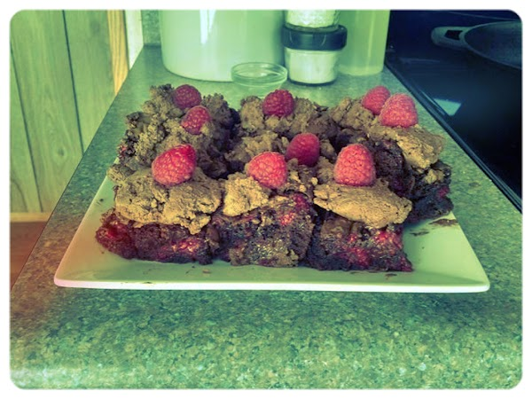 Raspberry Brownies With Truffle Frosting Recipe