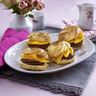 Chocolate and Mango Puffs.