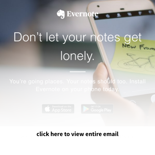 Mailigen Welcome Emails Evernote