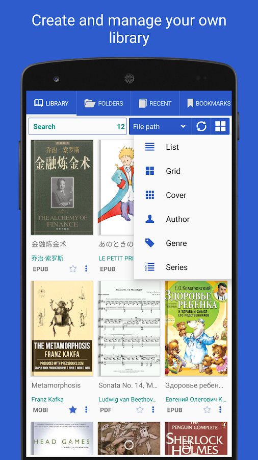 PRO Lirbi Reader: PDF, eBooks- screenshot