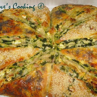 Bacon And Spinach Turkish Bread (borek).