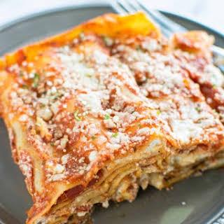 3 Ingredient Slow Cooker Lasagna.