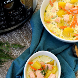 Crock-Pot Salmon Potato Soup.