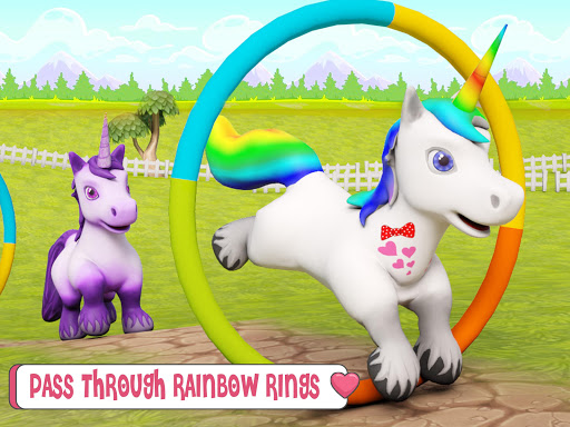 Baby Unicorn Wild Life: Pony Horse Simulator Games modavailable screenshots 10