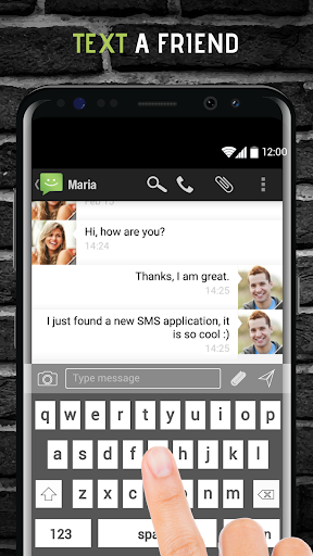 SMS from Android 4.4 with Caller ID screenshot