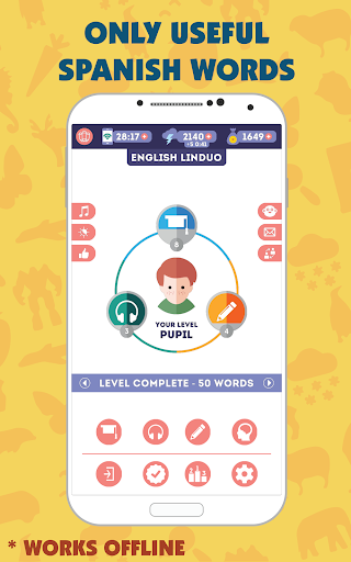 Spanish for Beginners: LinDuo HD 5.17.0 screenshots 1
