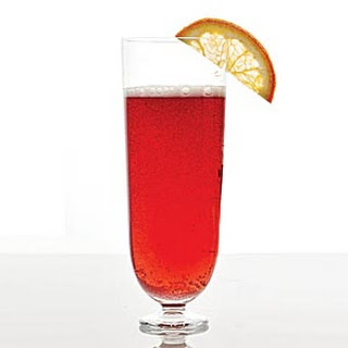 Cranberry-Champagne Cocktail.