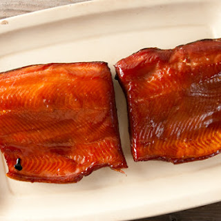 Smoked Salmon, Glazed with Birch or Maple Syrup.