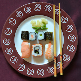 My today´s lunch. by Marcel Cintalan - Food & Drink Plated Food ( sushimi, sushi, food, today, plated food, lunch )