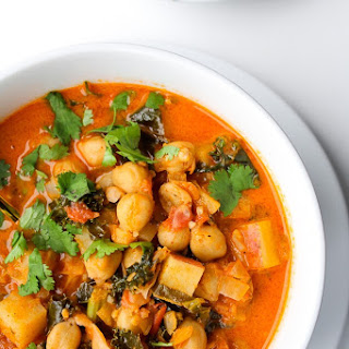 Tomato Coconut Curry Stew with Chickpeas.