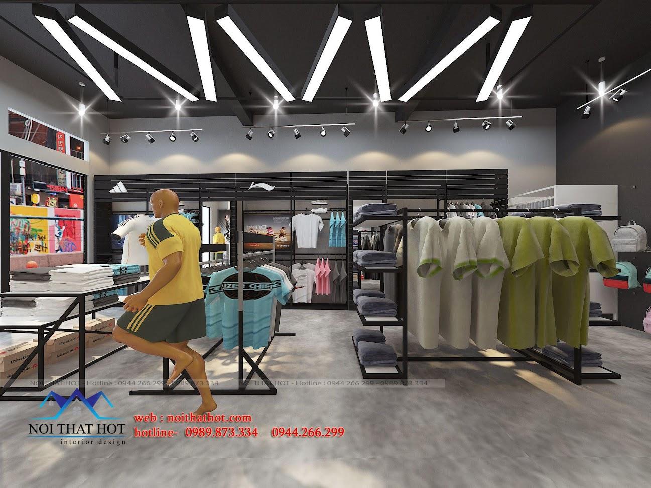 thiết kế shop thời trang adidas 5