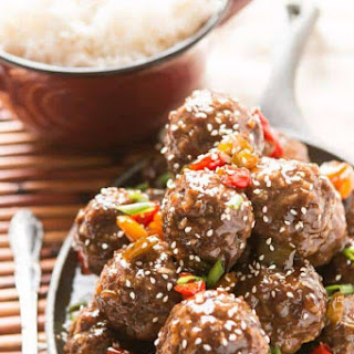 Sweet and Sour Meatballs for the Oven or Slow Cooker Recipe