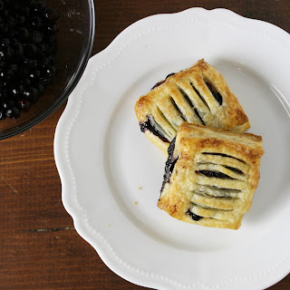 Blueberry Puff Pastry Tarts