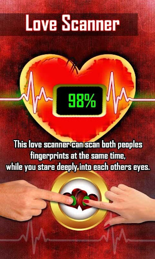 Love Calculator Finger Scanner 2018 Prank for PC