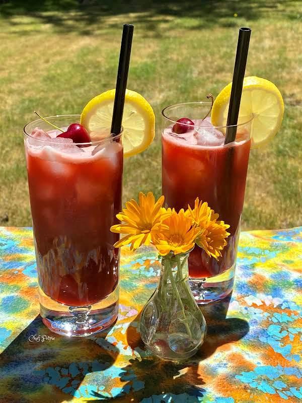 Fresh Cherry Lemonade
