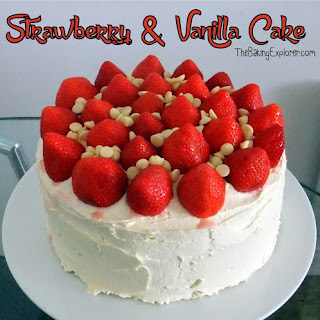 Vanilla Cake With Strawberries On Top Recipes