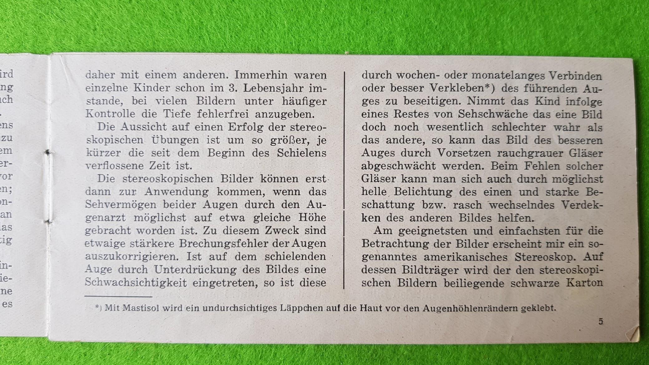Stereoskopische Bilder für schielende Kinder, Prof. Dr. C. H. Sattler, Königsberg, 1928
