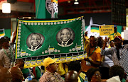 Cyril Ramaphosa supporters celebrate after he was announced as the new ANC President during the 54th ANC National Elective Conference held at Nasrec.