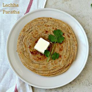 Lachha Paratha - Whole Wheat Lachha Paratha - Flaky Multilayered Indian Flatbread