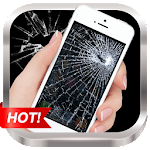Broken Screen Prank & Cracked Screen Phone Fire 3D Icon