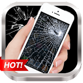 Broken Screen Prank & Cracked Screen Phone Fire 3D