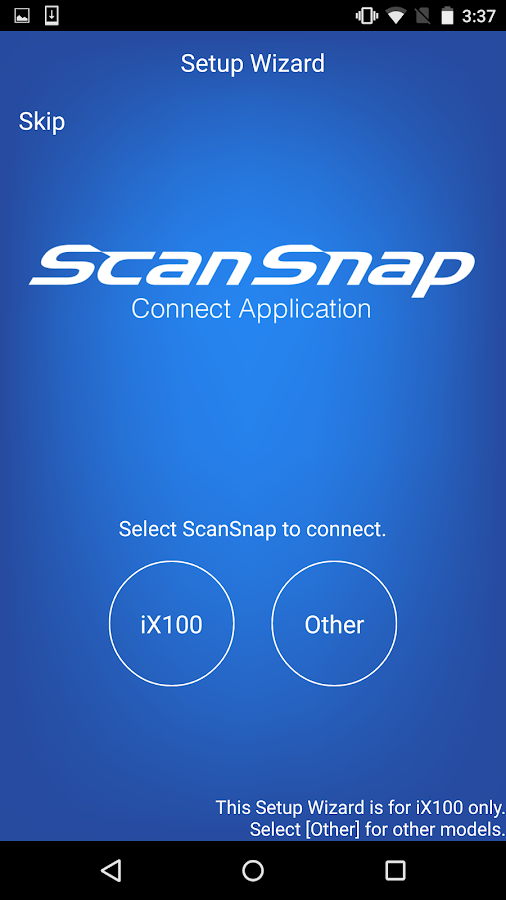 ScanSnap Connect Application.- screenshot