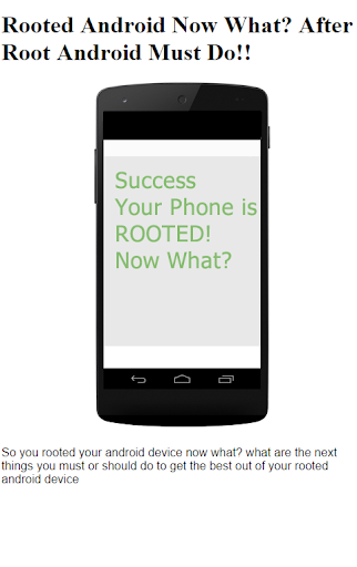 After Rooting Android Must DO