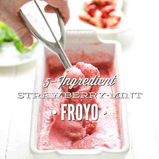 5-Ingredient Strawberry-Mint Froyo (Frozen Yogurt).
