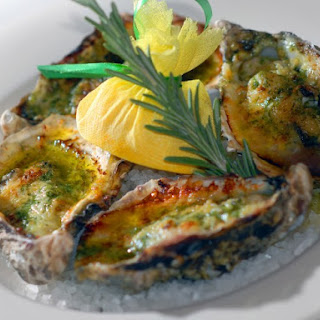 White Wine Basted Barbecued Oysters