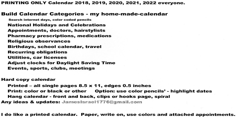 Calendar US 2018 2019 2020 2021 2022 – (Android Εφαρμογές