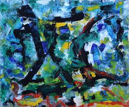 "Photo: ""Burma"", acrylique sur toile. 45cmx54, horizontal."