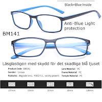 Läsglasögon 1.0 3.5 1.5 2.0 2.5 3.0 Lins blåljusfilter BM141