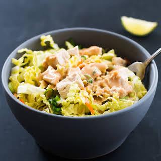 Best Chicken Salad Recipe with Creamy Peanut Butter Salad Dressing.