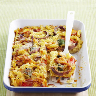 Vegetable and Bacon Pasta Bake