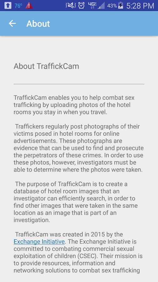 TraffickCam- screenshot