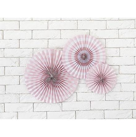 Dekorationsrosetter Pastelove ljusrosa