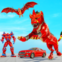 Lion Robot Car Game 2021 – Flying Bat Robot Games icon