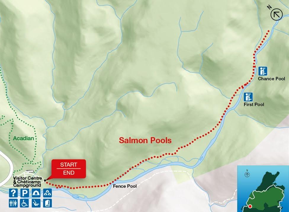 Salmon Pools, Park Narodowy Cape Breton Highlands