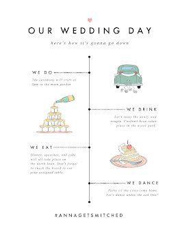 Wedding Day Timeline - Vertical Timeline item