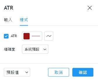 ATR指標設定,ATR指標軟體,ATR指標查詢,ATR指標參數,ATR指標教學